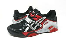 61d5a8d0e95e Asics Lift Trainer Mens Lifting Low Top Workout Shoes Black Red Silver Size  11