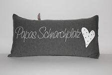 Papas Schnarchplatz Kissen 40x20/40x40/ hochwertiger Jersey Stoff handgenäht