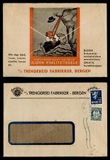 Dr Who 1951 Norway Ovpt Bergen Advertising f78713
