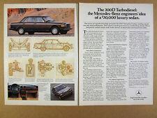 1982 Mercedes-Benz 300D Turbo Diesel Sedan photos diagrams vintage print Ad