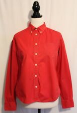POLO RALPH LAUREN ~ Red Cotton Long Sleeve Shirt s Black Logo on Hip M