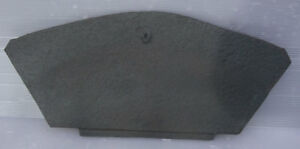 Original Antique Victorian Cast Iron Fireplace Spare Parts: Rear Draw Plate