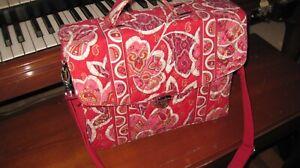 """Vera Bradley Messenger Bag in the """"Rosies and Posies"""" Pattern"""
