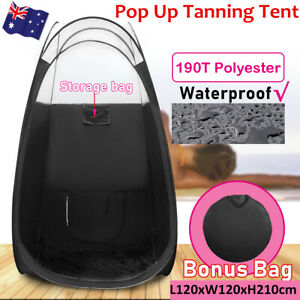 Large Spray Tan Tent Portable Pop Up Sunless Tanning Sun Care Booth Carry Bag AU