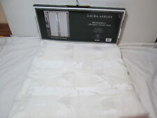 "New Laura Ashley BRIDGEWELL Grommet Sheer Window Panel Pair Two 52""x84"" - Ivory"