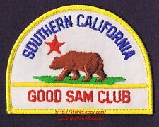 "LMH PATCH Badge GOOD SAM CLUB Brown Bear Star Flag SOUTHERN CA SAMS RV Travel 4"""