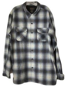 unworn Pendleton Men's Plaid Board Shirt Size XL Unique Blue Plaid shadow