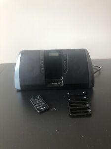 memorex ipod desktop speaker with clock mi3020-blk