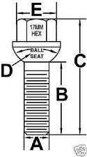 10 Pc MERCEDES Chrome Extended Lug Bolt Nuts 12x1.5 (50mm Shank Length) # 808XL