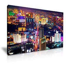 Las Vegas Canvas Wall Art Picture Print 76x50cm