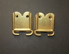 """British Army:""""PAIR BRASS ENDS FOR RIFLE SLING"""" (SMLE, Bren, P14, No4 etc,)"""