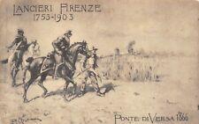 5334) S. MARIA CAPUA VETERE, LANCIERI DI FIRENZE 1753/1903 AL PONTE DI VERSA.