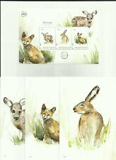 NEDERLAND 2019 Postset Zoogdieren - Michelle Dujardin - Deer - Bunny - Fox