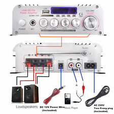 New Mini Car Home Bluetooth 2CH Hi-Fi Stereo AMP Audio Amplifier For iPod iPhone