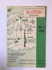 New listing 1965 Masters Spectator Guide won by Jack Nicklaus