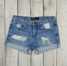 BDG Urban Outfitters Distressed Destroyed Boyfriend Denim Jean Short Shorts Sz 0