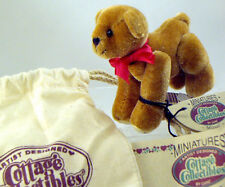 Cottage Collectibles Miniature Teddy Bear MIGUEL Stamped Paw Prints-Sits, Stands
