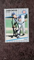 1989 Fleer Jamie Moyer #432 - Chicago Cubs - Autographed!