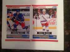 2010/2011 Ryan McDonagh & Mats Zuccarello RC Lot ...NY Rangers...HOT!!!!!!