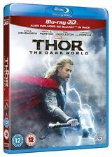 Thor: The Dark World [3D + 2D Blu-ray Region Free, Portman Hemsworth Marvel] NEW