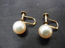 750er Perlenohrstecker Perlen durchmesser 8,6mm Gewicht 3,50 Gramm