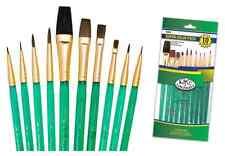 Royal Brush CAMEL SABLE Paint Brushes Painting 10 Pc Set SVP3 Art Artist Supply