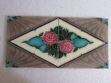 2 Pc,Vintage Collectible Decorative Art Nouveau Architecture Tiles, Japan,