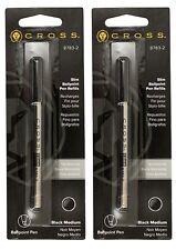 2 - CROSS Slim Ballpoint Pen Refills for Click Pens - Black Medium