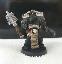 Warhammer40k Well painted SpaceMarine Chaplain with Crozius & Jump-Pack metal