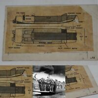 Rare WWII 1942 Classified British D-Day Landing Craft ALC Blueprint Lot Relic