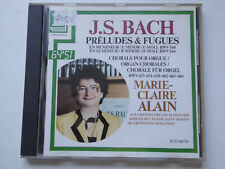MARIE-CLAIRE ALAIN <>  J.S. Bach Preludes & Fuges  <> VG++ (CD)