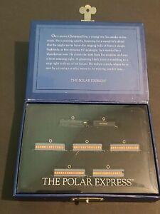 THE POLAR EXPRESS TRAIN Miniature Set of 7 Ornaments HALLMARK 2005