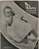 Vintage Patons Knitting Book 212 - Baby Patterns - 1940s
