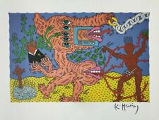 KEITH HARING SIGNED * UNTITLED * HELIOLITHO CIRCA. 1980