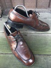 Mens Freeman FreeFlex Sz 7 D Brown Leather Moc Toe Oxford Derby Dress Casual-207