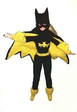 "BATGIRL WITH CAPE, KNITTING PATTERN FOR BARBIE, DISNEY PRINCESS, 11 / 12"" DOLL"