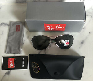 Ray-Ban RB3293 Aviator Polarized Gunmetal Green Lens Sunglasses 63□13 125 3P