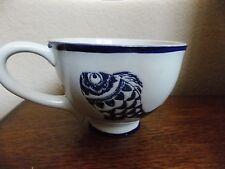 New Blue Sky Clayworks Ceramic Under The Sea Blue Fish Set Of 4 Coffee Mugs