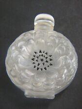 """ART DECO LALIQUE PARIS Crystal Dahlia Perfume Bottle ? 5.25"""" 9cm  VGC  Estate"""