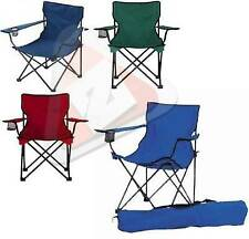 New Canvas Folding Chair With Arms Cup Holder Carrying Case Camping Hiking Fishi