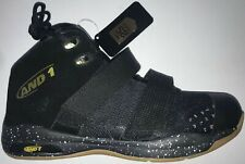 And1 25th Anniversary Basketball Shoes Youth 6 WIDE Black/Gold NEW WITH TAGS