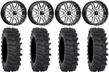 "MSA Machined Brute 20"" Wheels 34"" XM310R Tires Honda Pioneer 1000 / Talon"