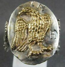 Ancient Roman Military Legionary Gold Silver Ring Legion IX Hispana Eagle