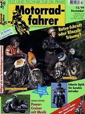 Motorradfahrer 12/99 1999 Suzuki VS 1400 Enfield Diesel Kawasaki W 650 Bode-BMW