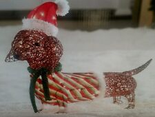 2016 Holiday Living Tinsel Lighted Dachshund Christmas Display LOOK SOLD OUT!!