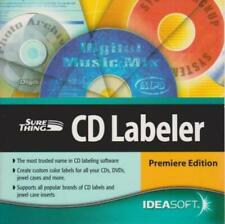 Sure Thing CD Labeler Premiere Edition PC CD create labels for dvds jewel cases
