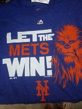 NY METS STAR WARS CITI FIELD T SHIRT LARGE CHEWBACCA THE FORCE AWAKENS