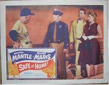 SAFE AT HOME, MANTLE & MARIS 1961 ORIGINAL LOBBY CARD