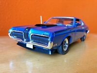 1970 Mercury Cougar Eliminator WELLY model 2520 car 1/18 Scale Diecast blue NICE