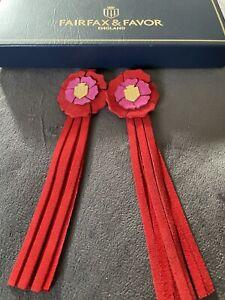 FAIRFAX & FAVOR RED CFS CHELSEA FLOWER SHOW TASSELS